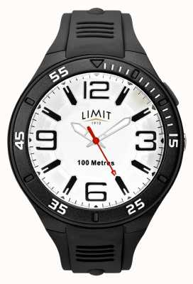 Limit Men's Black Rubber Strap | White Dial 5796.65