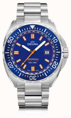 Delma Shell Star Quartz | Stainless Steel Dial | Blue Dial 41701.676.6.041