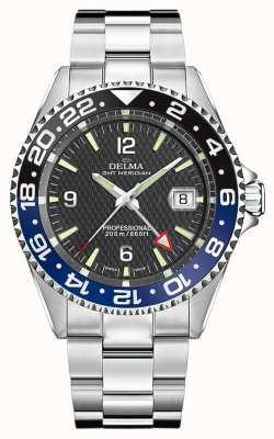 Delma Quartz GMT | Two-Tone Bezel | Stainless Steel Bracelet | 41701.648.6.034