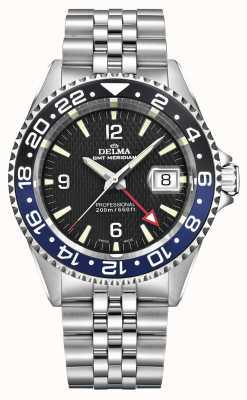 Delma Quartz GMT   Two-Tone Bezel   Stainless Steel Bracelet   41701.648.6.034