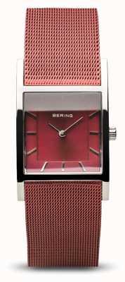 Bering Women's Classic   Polished Silver   Blue Mesh Bracelet 10426-303-S