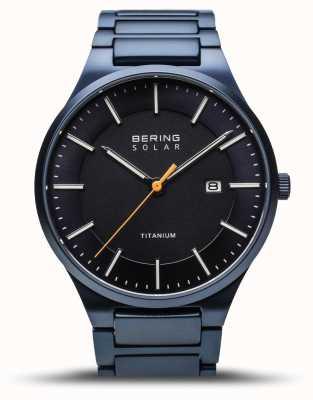 Bering Men's Titanium | Brushed Blue | Blue Titanium Strap 15239-797
