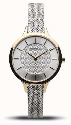 Bering Women's Classic | Polished Gold | Silver Mesh Bracelet 17831-010