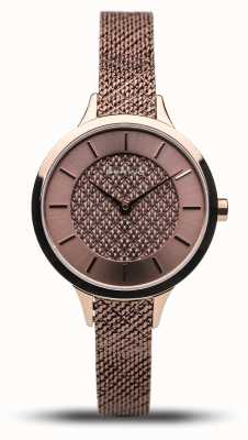 Bering Women's Classic | Polished Rose | Rose Gold Mesh Bracelet 17831-265