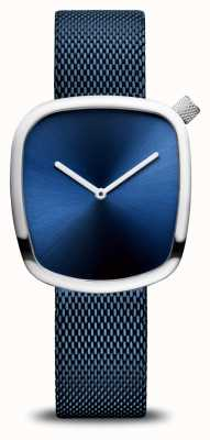 Bering Classic | Pebble | Blue Mesh Strap | Blue Dial 18034-307