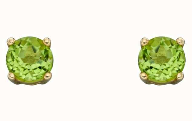 Elements Gold 9ct Yellow Gold 4mm Approx Cz Peridot August Birthstone Studs GE2333