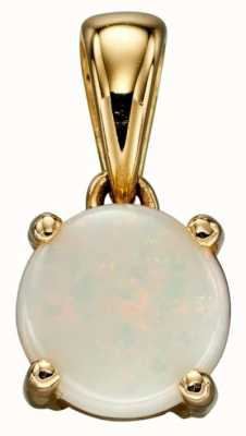 Elements Gold 9ct Y/g Opal October Birthstone Pendant Only GP2197