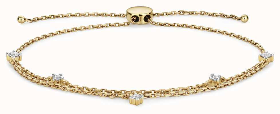Treasure House 9k Gold 0.25ct Diamond Adjustable Bracelet BD032