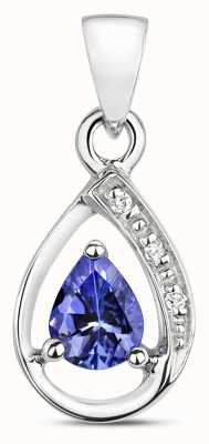 Treasure House 9ct White Gold Diamond & Tanzanite Pendant PD252WT