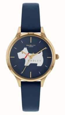 Radley Meridan Place | Blue Leather Strap | Dog Motif Dial RY2974