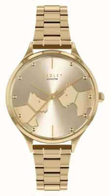 Radley Face To Face   Gold Tone Steel Bracelet   Gold Dial RY4516