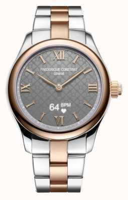 Frederique Constant Womens | Vitality | Smartwatch | Grey Dial | Two Tone FC-286BG3B2B