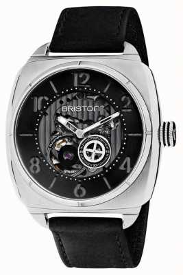 Briston Streamliner Skeleton Auto | Stainless Steel | Black Leather 201042.S.SK.1.CH