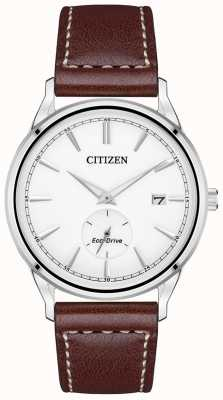 Citizen Men's Strap Eco-Drive Stainless-steel Brown Leather Strap Watch BV1119-14A
