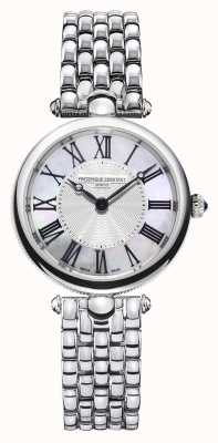 Frederique Constant Women's Art Déco |Stainless Steel Bracelet |Mother Of Pearl FC-200MPW2AR6B