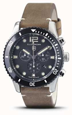 Elliot Brown Bloxworth | Vintage Brown Leather Strap | Black Dial 929-016-L21