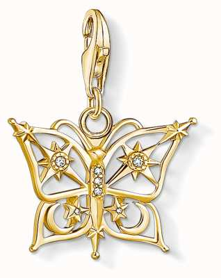 Thomas Sabo Charming | 18k Yellow Gold Plated Butterfly,Star&Moon Charm Pendant 1853-414-14