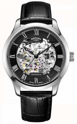 Rotary Mens | Skeleton | Greenwich |Automatic Watch GS02940/30