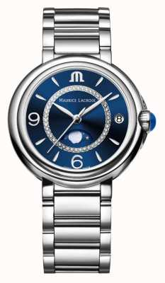 Maurice Lacroix Fiaba Moonphase Ladies Quartz Diamond Stainless Steel FA1084-SS002-420-1