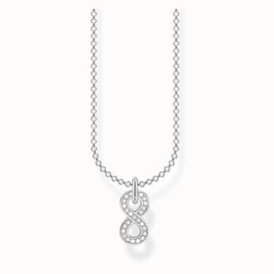 Thomas Sabo Silver Infinity Cubic Zirconia 45cm Necklace KE2067-051-14-L45V