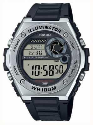 Casio Illuminator | Black Silicone Strap MWD-100H-1AVEF