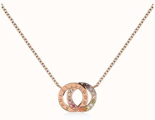 Radley Jewellery Sterling Silver 18ct Rose Gold Double Hoop Necklace RYJ2138