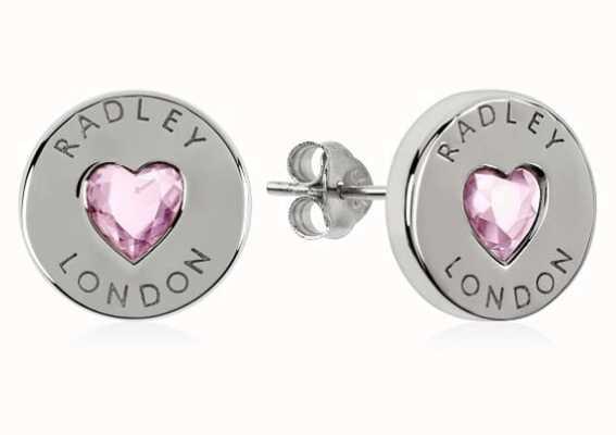 Radley Jewellery Sterling Silver Heart Disc Earrings RYJ1137