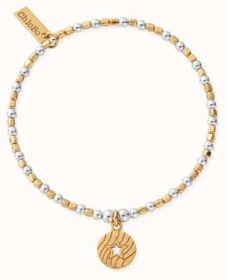 ChloBo Gold&Silver Open Star In Circle Bracelet GMBCFB4017