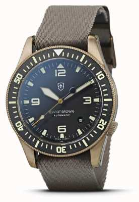 Elliot Brown Holton Automatic | Sand Webbed Strap | Black Dial | 101-A12-N10