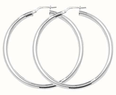 Treasure House 40mm Silver Round Hoop Earrings G5182
