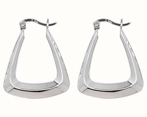 Treasure House Silver Creole Triangle Hoop Earrings G5877