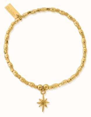 ChloBo Soul Glow Lucky Star Bracelet | 18ct Gold Plated GBCFR2074
