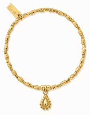 ChloBo Soul Glow Rain Drop Bracelet | 18ct Gold Plated GBCFR3084
