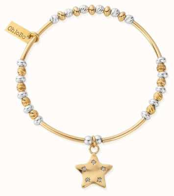ChloBo Gold & Silver Sparkle Star Bracelet GMBSBNH3036