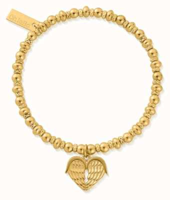 ChloBo Didi Sparkle Heavenly Heart Bracelet | 18ct Gold Plated GBDS1024