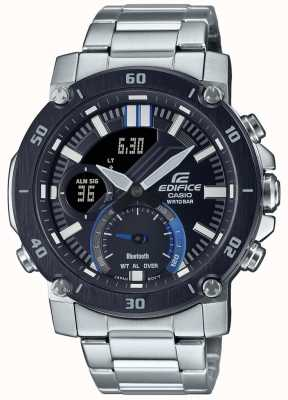 Casio Edifice | Stainless Steel Bracelet | Black/Blue Dial | ECB-20DB-1AEF