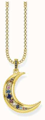 Thomas Sabo 18k Yellow Gold Plated Royalty Moon Necklace KE1826-959-7-L45V