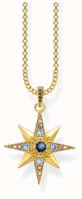 Thomas Sabo 18k Yellow Gold Plated Royalty Star Necklace KE1967-959-7-L45V