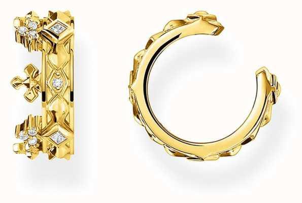 Thomas Sabo Gold Plated Single Crown Ear Cuff EC0016-414-14