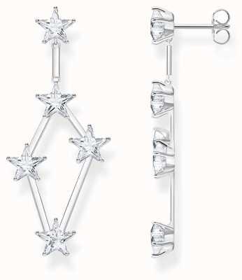 Thomas Sabo Sterling Silver Magic Stars Dangly Earrings H2083-051-14