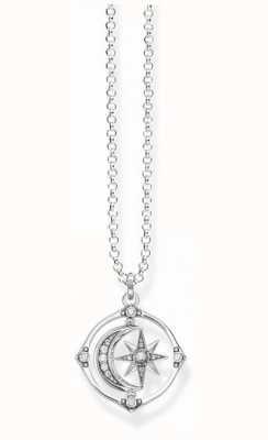 Thomas Sabo Sterling Silver Star And Moon Necklace   KE1985-643-14-L50V