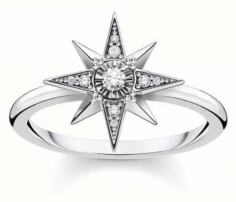 Thomas Sabo Sterling Silver Royalty Star Ring | EU 54 (UK N) TR2299-643-14-54