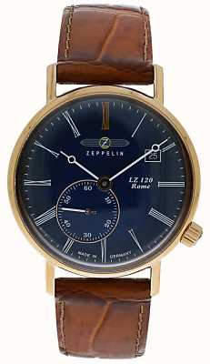 Zeppelin LZ120 Rome Lady | Brown Leather Strap | Blue Dial 7137-3