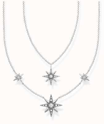 Thomas Sabo Sterling Silver Star Necklace | 40-45cm KE1984-643-14-L45V
