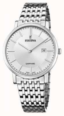 Festina Men's Swiss Made | Stainless Steel Bracelet | Silver Dial F20018/1