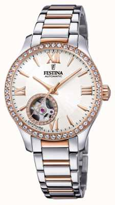Festina Women's Automatic | Two-Tone Stainless Steel Bracelet | Silver Dial F20487/1