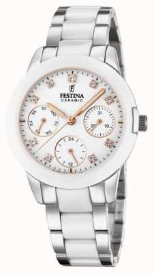 Festina Women's Ceramic | Two-Tone Steel/Ceramic Bracelet | White Dial F20497/1