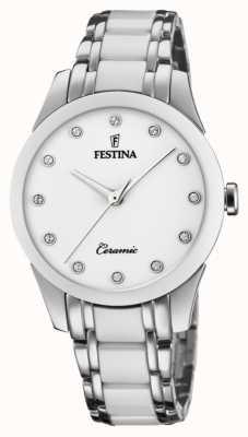 Festina Women's Ceramic | Two-Tone Steel/Ceramic Bracelet | White Dial F20499/1