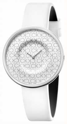 Calvin Klein Mania | Women's White Leather Strap | White Dial KAG231LX