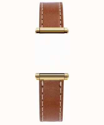 Michel Herbelin Antarès | Harrison Gold | Brown Leather Interchangeable Strap Only (Gold) BRAC.17048.02/P